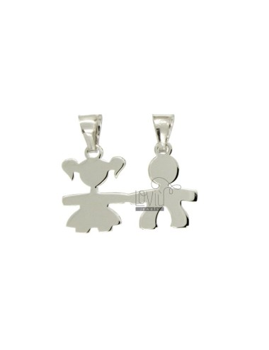 Pendant CHILDREN DIVISIBLE MM 18x25 SILVER RHODIUM TIT 925