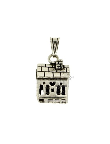Pendant ANGELS TALK A LITTLE HOUSE MM 23x15 SILVER BRUNITO TIT 800 ‰