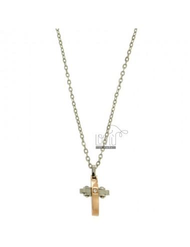 Cross pendant mit zircon...