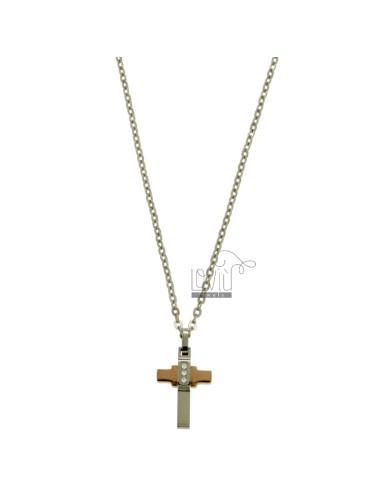 Cross pendant mm 24x12 with...