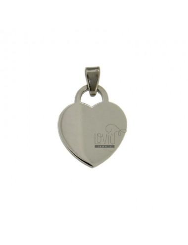 PENDANT HEART T 22x17 MM STEEL