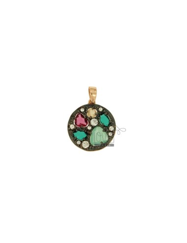 CHARM WITH ROUND STONES AND...