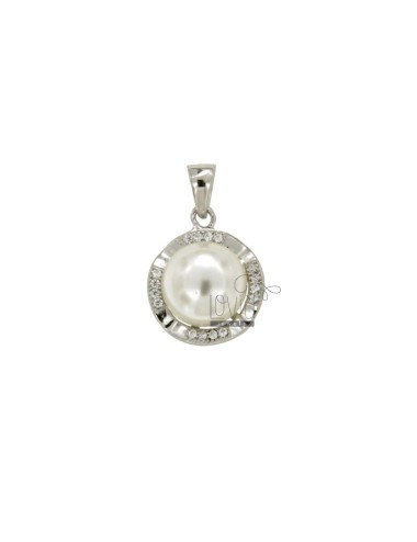 Round pearl necklace 13 mm...