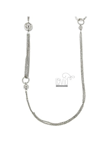 LACE ROLO Kette mit Silber...
