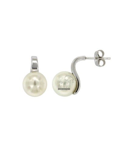 EARRINGS PEARL 10 MM SILVER...
