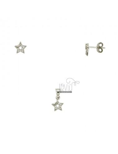 Ohrringe und Anhänger STAR...