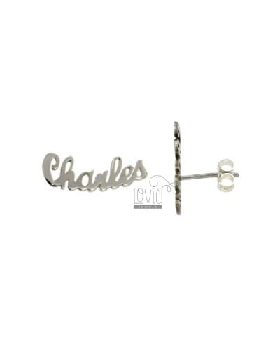 MONO EARRING A LOBO CHARLES SILVER RHODIUM TIT 925