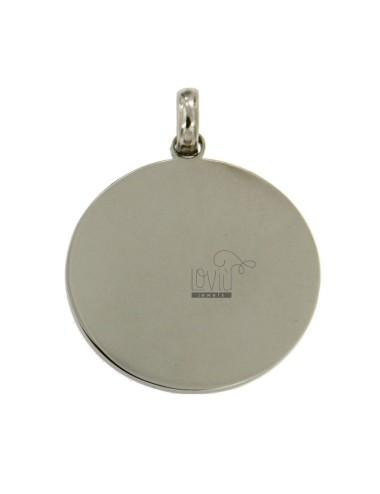 Placa redonda 30 mm steel