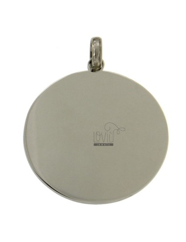 Placa redonda 35 mm steel