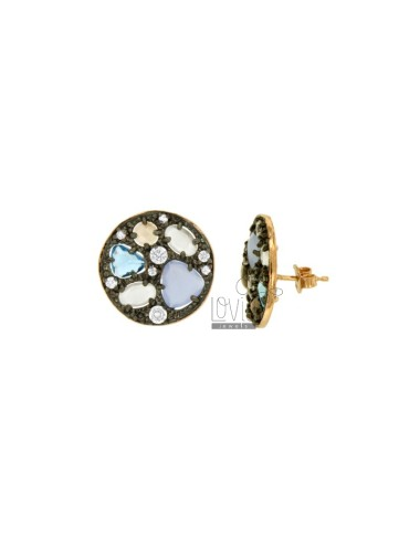 LOBO MM 20 STAINLESS EARRINGS WITH HYDROCHLORIC STONES COI TONES OF SUCCESSED SUGAR PAPER TIT 925 ‰
