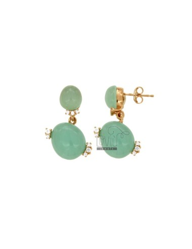 EARRINGS WITH TWO TIFFANY...
