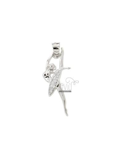 Bailarina 28x11 mm colgante...
