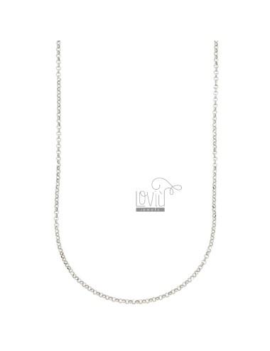 Chain 3 pcs rolo 'diamond...