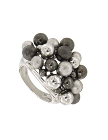 RING MIT BALL SILBER...