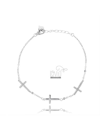 CABLE Armband mit 3 CROSSES...