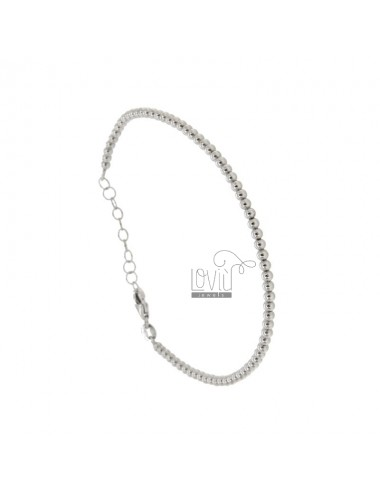 2.5 MM SILVER BRACELET IN SILVER REDUCED 925 ‰ WITH CLOSURE
