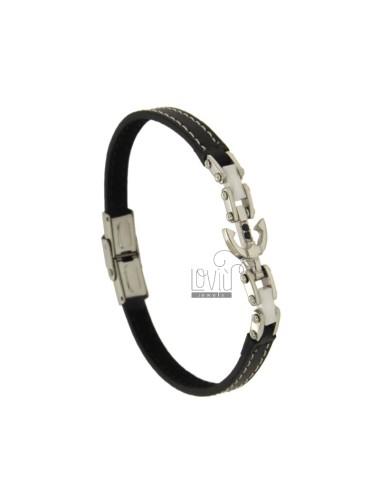 Black leather bracelet...