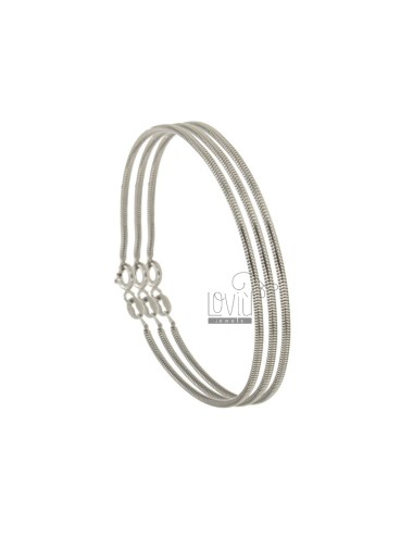 BRACELET TUBE GAS DIAMETER MM 1.6 CM 18 PZ 3 IN SILVER REDUCED TIT 925 ‰