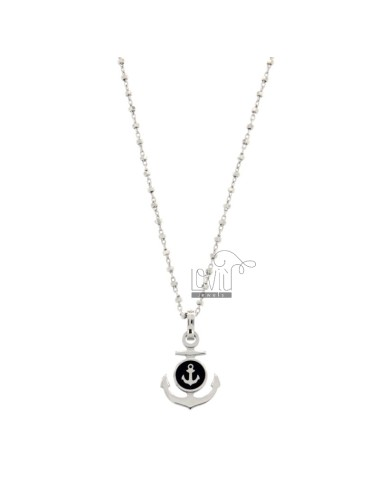 SAURO CHAIN ??WITH PENDANT SILVER RODIED AND SMARTED TIT 925 ‰ CM 50