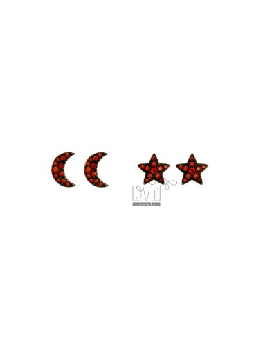 LOBO STAR EARRINGS AND MOON...