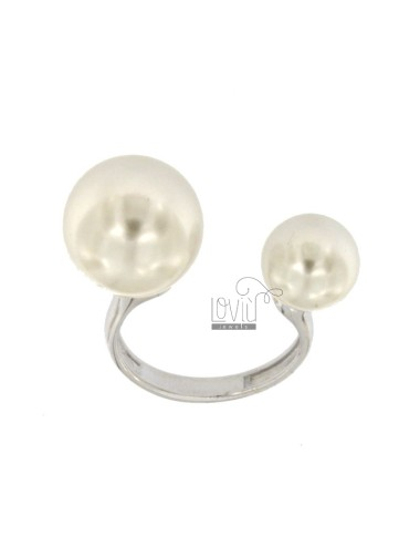 Ring with perle mm 10 and...
