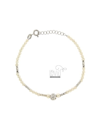 MM 3 PENDANT BRACELET AND SILVER STRING SILVER REDUCED TIT 925 CM 17-19