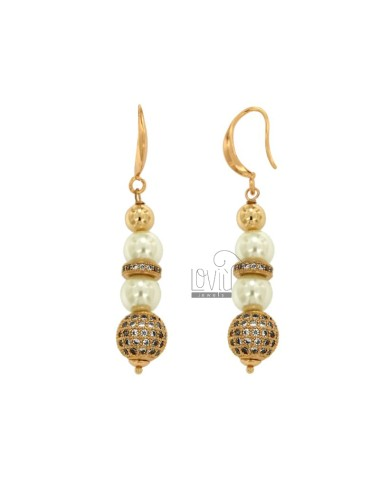 Pendant earrings with mm 9...