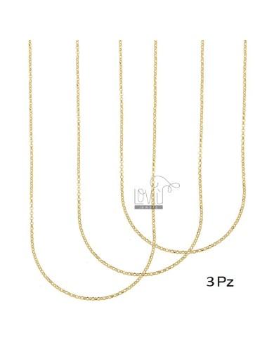 CHAIN ??PZ 3 ROLO 'DIAMONDED MM 2 CM 40 IN SILVER GOLDEN 925 ‰