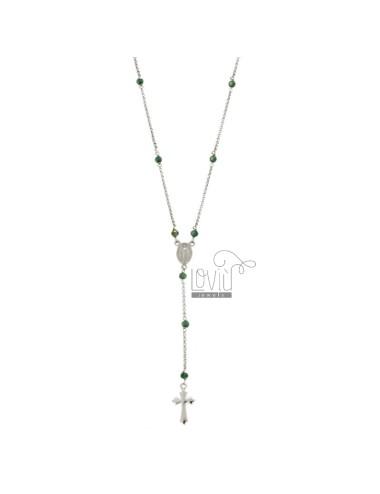 Collar rosario con papel...