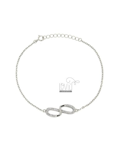 Bracelet with infinite and...