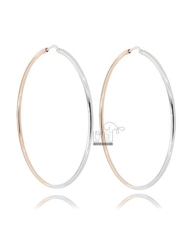 Barrel circle earrings mm 2...