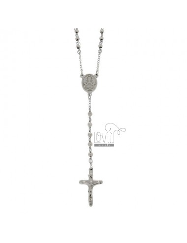 Rosary necklace with smooth...