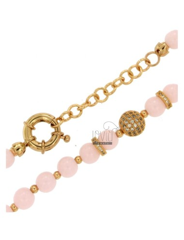 Necklace with balls of...