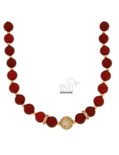 Necklace with balls of red...