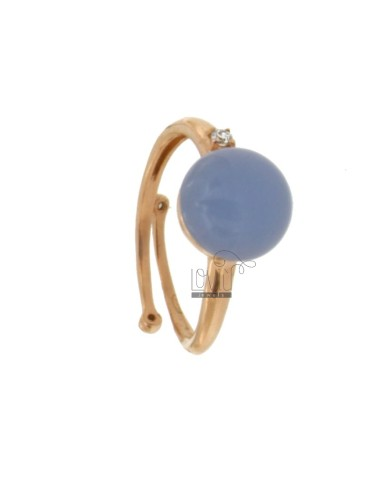 Round ring with cabochon in...