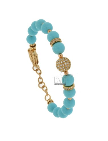 Bracelet with turquoise...