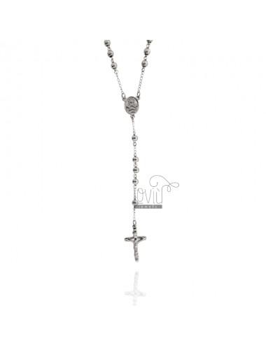 Collar rosario con bola...