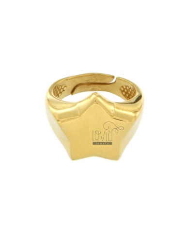 STAR RING IN GOLDEN SILVER...