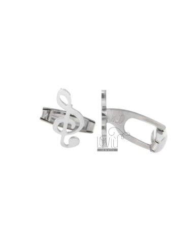 TWIN KEYS OF VIOLIN 18x9 MM SILVER RHODIUM TIT 925 ‰
