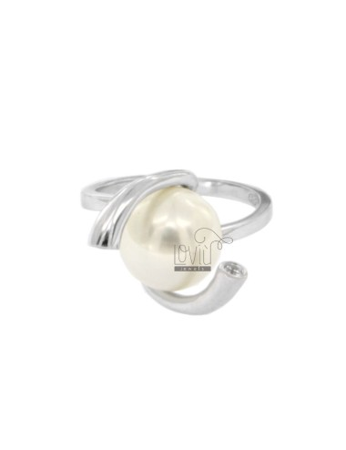 RING MIT PERL 12 MM Silber...