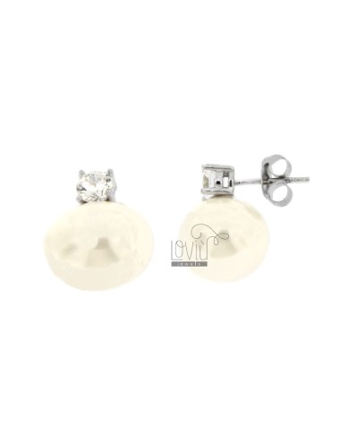 EARRINGS WITH OVAL 13X15 MM...