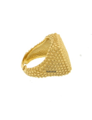 Square small ring with...
