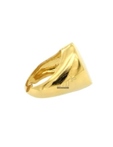 Anillo óvalo de oro en...