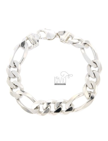 BRACELET SWEATER 3 1 MM 12X4 SILVER 925 ‰ 24 CM