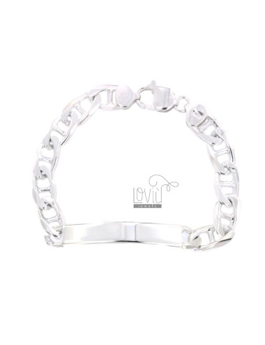 BRACELET TRAVERSINO KNITWEAR WITH 8x2.3 MM PLATE IN SILVER 925 ‰ 20.5 CM
