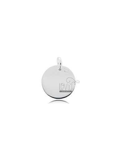 PENDANT ROUND DIAMETER MM 15 THICKNESS 1 MM SILVER TIT 925