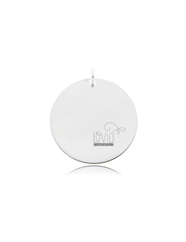 PENDANT ROUND DIAMETER MM 25 MM THICKNESS IN SILVER TIT 925