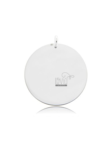 PENDANT ROUND DIAMETER MM 30 MM THICKNESS IN SILVER TIT 925