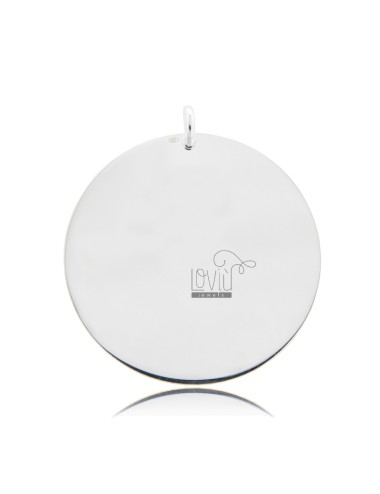 PENDANT ROUND DIAMETER MM 35 THICKNESS 05 MM IN SILVER TIT 925