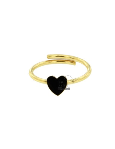 Central heart ring in...